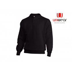 POLOSWEATER UNIWEAR PSU BLACK