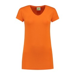 T-SHIRT L&S 1268 ORANGE CREWNECK COT/ELAST SS FOR HER VARIETY