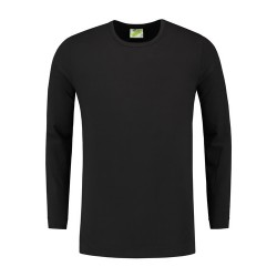 T-SHIRT L&S 1265 black LONGSLEEVE CREWNECK COT ELAST LS FOR HIM