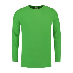 T-SHIRT L&S 1265 LIME LONGSLEEVE CREWNECK COT ELAST LS FOR HIM
