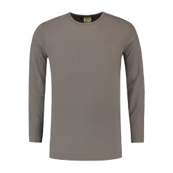 T-SHIRT L&S 1265 pearl grey LONGSLEEVE CREWNECK COT ELAST LS FOR HIM